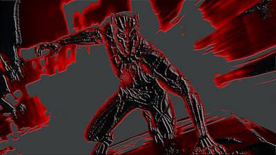 Danai Gurira Mixed Media - Black Panther 1a by Brian Reaves