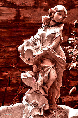 Photograph - Black Pearl Lady Sepia Hdr by Lesa Fine