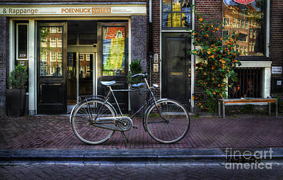 Photograph - Black Poelwijc Bike by Craig J Satterlee