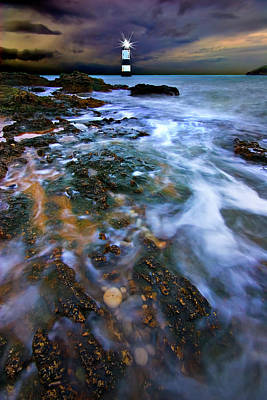 North Wales Photograph - Black Point Light by Meirion Matthias