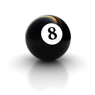 Billiard Drawing - Black Pool Billiard Ball Number 8 by Mr Sizsus