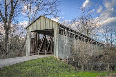 Music Royalty-Free and Rights-Managed Images - Black/Pughs Mill Covered Bridge by Jack R Perry