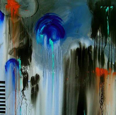Black Rain Art Print by Nicole Lee
