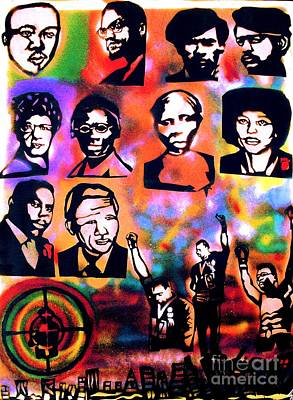 Free Speech Painting - Black Revolution by Tony B Conscious
