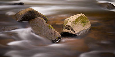 Photograph - Black River Flow - Panoramic by Mark Robert Rogers