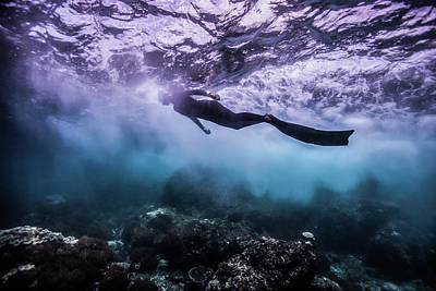 Apnea Photograph - Black Rock by One ocean One breath