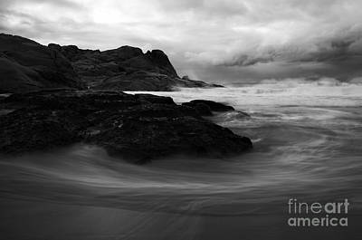 Knights Beach Photograph - Black Rock  Swirl by Mike  Dawson