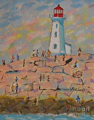 Pastel - Black Rocks Of Peggy's Cove  by Rae  Smith PAC