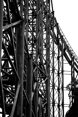 Photograph - Black Roller Coaster Abstract Art  by Doc Braham