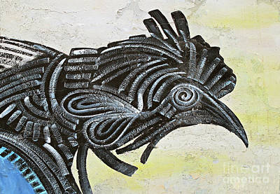 Photograph - Black Rooster by Ethna Gillespie
