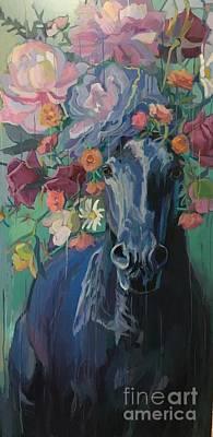Black Rose Art Print by Kimberly Santini