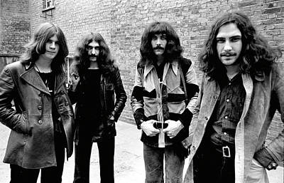 Print featuring the photograph Black Sabbath 1970 #4 by Chris Walter