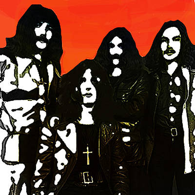 Def Leppard Mixed Media - Black Sabbath Portrait  by Enki Art