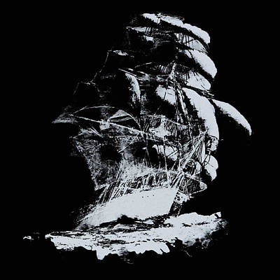 Painting - Black Sails by Andrea Mazzocchetti