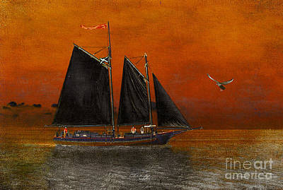 Black Sails In The Sunset Art Print by Chris Armytage