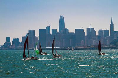 Photograph - Black Sails On The Bay by Bonnie Follett