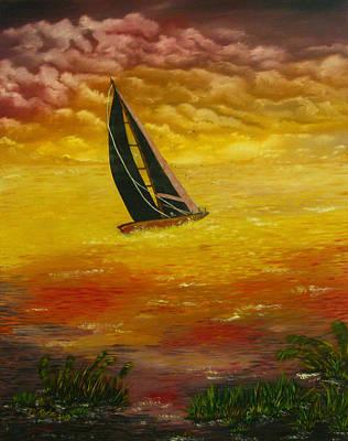 Sails Painting - Black Sails by Vincent Keele