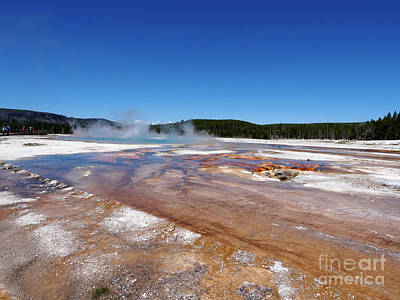 Black Sand Basin In Yellowstone National Park Art Print by Louise Heusinkveld