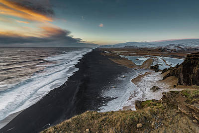 Photograph - Black Sand Beach by Allen Biedrzycki