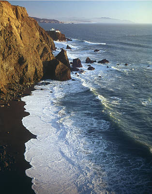 Photograph - 2a6x62-a3-black Sand Beach And Point Bonita  by Ed  Cooper Photography