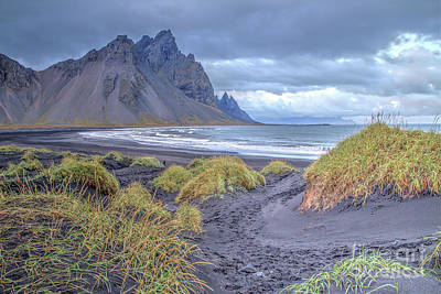 Photograph - Black Sand Beach At Stokknes, Iceland by Gordon Wood