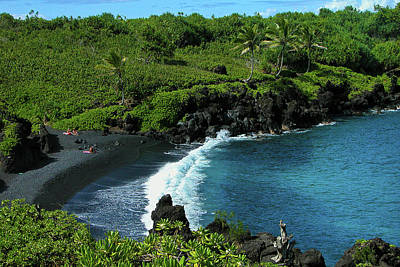 Photograph - Black Sand Beach  by Harry Spitz
