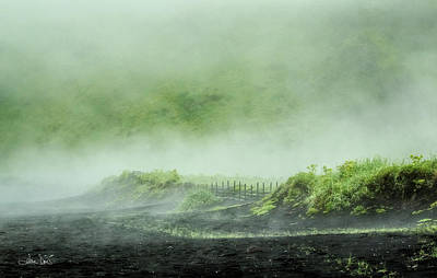 Photograph - Black Sand Beach In The Mist by Joan Davis