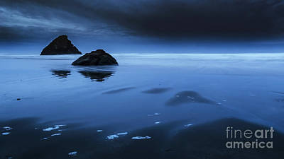 Photograph - Black Sand Glow by Along The Trail