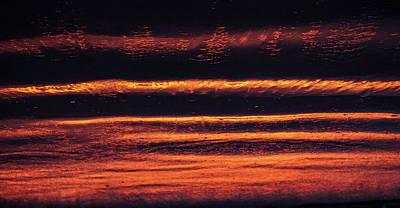 Black Sand Orange Sun  Art Print by John Pierpont