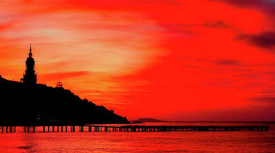 Photograph - Black Sea Turned Red by Reksik004