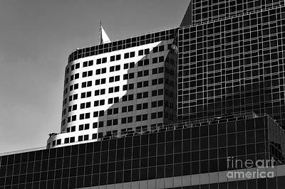 Photograph - Black Shadows In Vancouver Mono by John Rizzuto