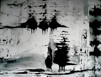Painting - Black Sheep Abstract by 'REA' Gallery