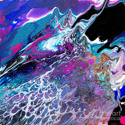 Painting - Black Shore Pour #2 by Expressionistart studio Priscilla Batzell