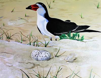Painting - Black Skimmer by John Duplantis