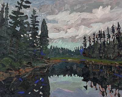 Beaver Lake Painting - Black Spruce Sentinels by Phil Chadwick