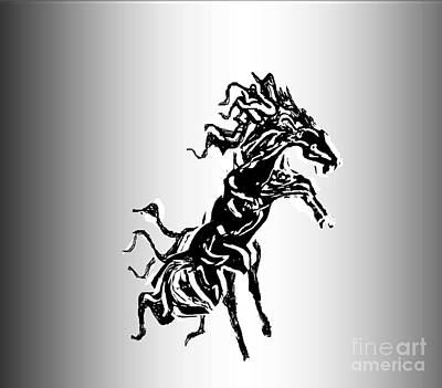 Painting - Black Stallion by Belinda Threeths