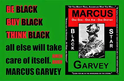 Digital Art - Black Star Garvey by Adenike AmenRa