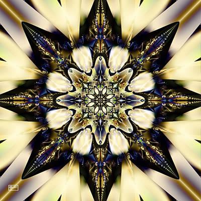 Digital Art - Black Star by Jim Pavelle