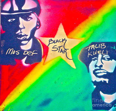 Free Speech Painting - Black Star by Tony B Conscious
