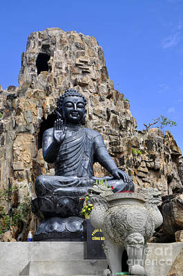 Photograph - Black Stone Buddha by Andrew Dinh