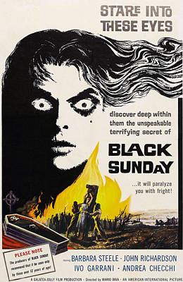 1960s Poster Art Photograph - Black Sunday, Barbara Steele, One-sheet by Everett