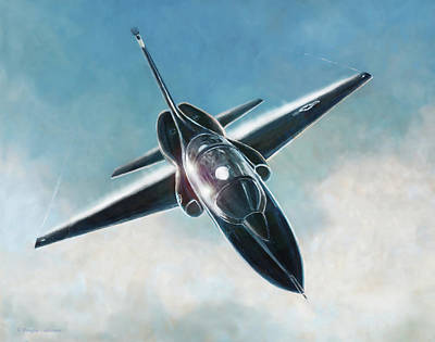 Painting - Black T-38 by Douglas Castleman
