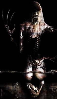 H.r. Giger Digital Art - Black Tears by Pharaoh Laboa