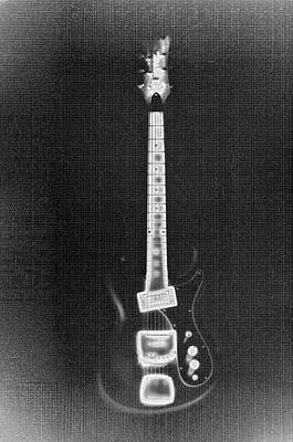 Fender Strat Digital Art - Black Thunder by Bill Cannon