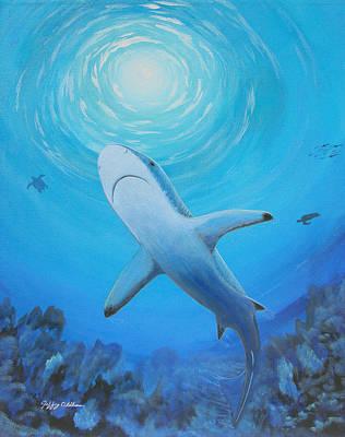 Painting - Black Tip Reef Shark by Jeffrey Oldham