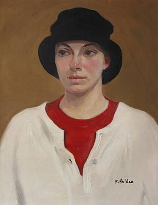 Painting - Black To Red To White by Robert Holden