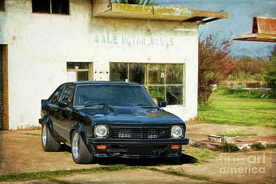 Photograph - Black Torana Ss Hatchback by Stuart Row
