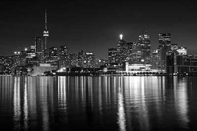 Photograph - Black Toronto Night by Frozen in Time Fine Art Photography