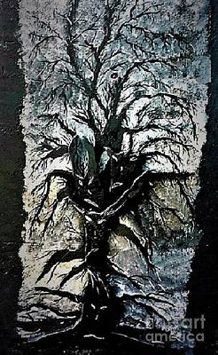 Painting - Black Tree by Crystal Schaan
