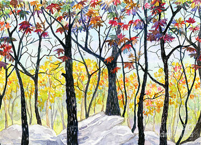 Painting - Black Trees Wnc by Anne Marie Brown